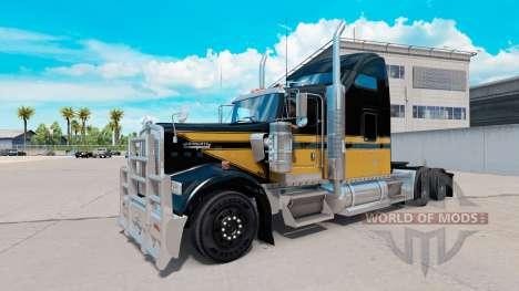 Скин Snowman на тягач Kenworth W900 для American Truck Simulator