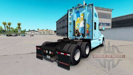 Скин The Simpsons на тягач Kenworth для American Truck Simulator