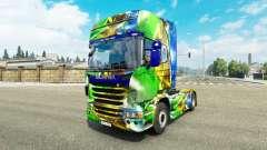 Скин Brasil 2014 на тягач Scania