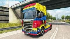 Скин Colombia Copa 2014 на тягач Scania
