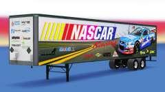 Скин NASCAR на цельнометаллический полуприцеп