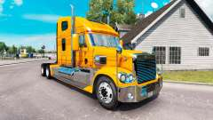 Скин Metallic на тягач Freightliner Coronado