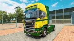 Скин Ouro Verde Transportes на тягач Scania