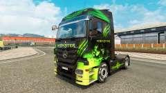 Скин Monster на тягач Mercedes-Benz