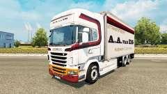Скин A.A.van ES на тягач Scania Tandem
