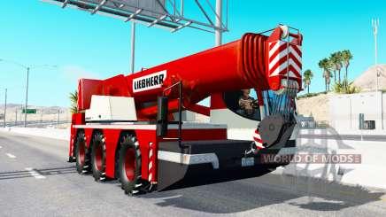 Автокран Liebherr в трафике v2.0 для American Truck Simulator