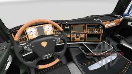 Интерьер Dark Line Exclusive v2.0 для Scania для Euro Truck Simulator 2