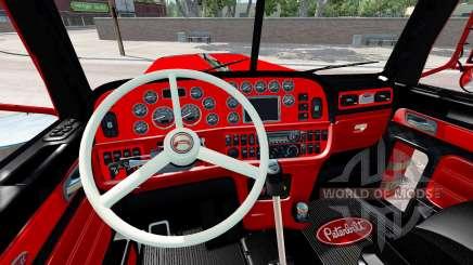 Интерьер Red and Black для Peterbilt 389 для American Truck Simulator