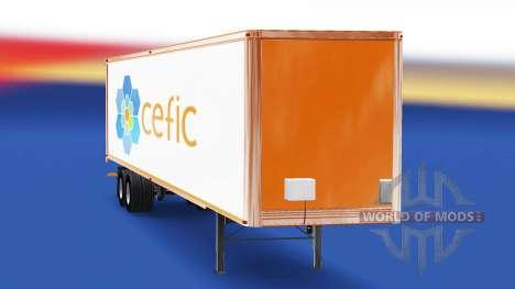 Скин Cefic на полуприцеп для American Truck Simulator