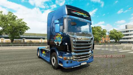 Скин Disaster Transport на тягач Scania для Euro Truck Simulator 2