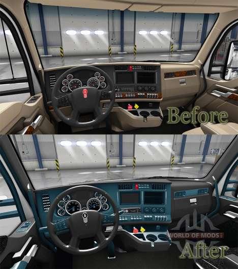Интерьер Blue Dial для Kenworth T680 для American Truck Simulator