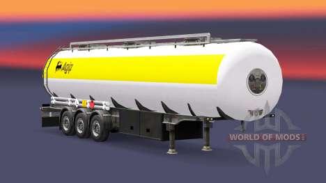 Скин Agip на топливный полуприцеп для Euro Truck Simulator 2
