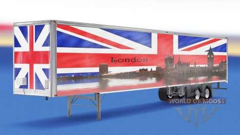 Скин London v1.2 на полуприцеп для American Truck Simulator