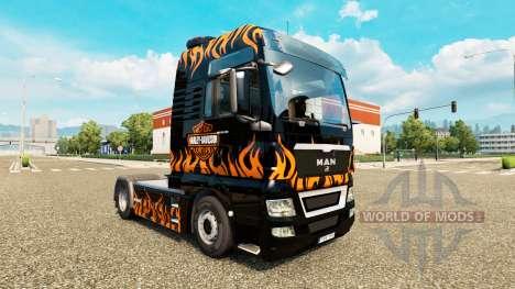 Скин Harley-Davidson на тягач MAN для Euro Truck Simulator 2