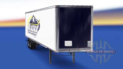 Скин Alaska State Hockey на полуприцеп для American Truck Simulator