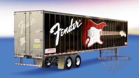 Скин Fender Guitars на полуприцеп для American Truck Simulator