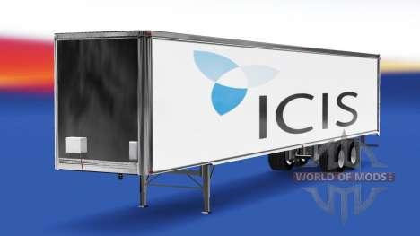 Скин ICIS на полуприцеп для American Truck Simulator
