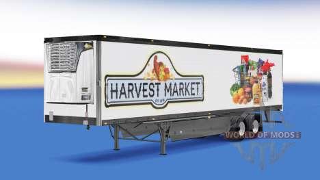 Скин Harvest Market на полуприцеп для American Truck Simulator