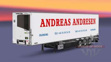 Полуприцеп-рефрижератор Chereau Andreas Andresen для Euro Truck Simulator 2