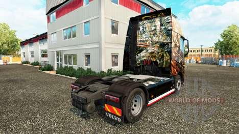 Скин Husaria на тягач Volvo для Euro Truck Simulator 2