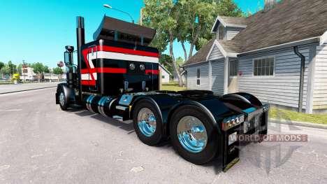Скин Metallic Black на тягач Peterbilt 389 для American Truck Simulator