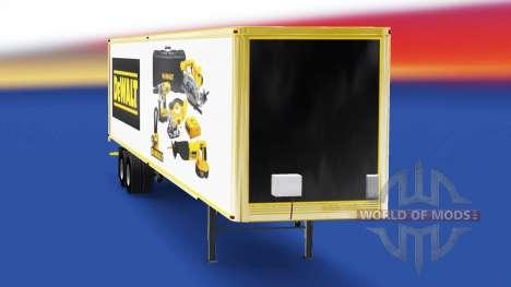 Скин DeWALT на полуприцеп для American Truck Simulator