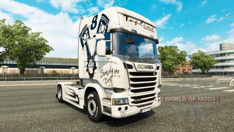 Скин Simply the Best на тягач Scania Streamline для Euro Truck Simulator 2