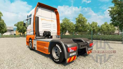 Скин Excellence Transportes на тягач MAN для Euro Truck Simulator 2