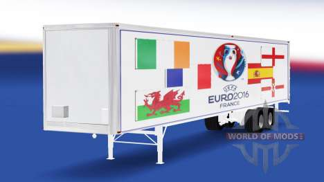 Скин Euro 2016 v3.0 на полуприцеп для American Truck Simulator