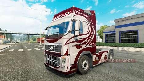 Скин Fantasy на тягач Volvo для Euro Truck Simulator 2