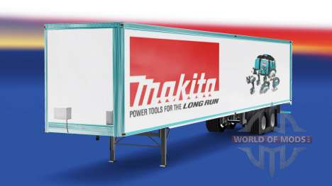 Скин Makita на полуприцеп для American Truck Simulator