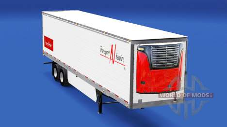 Скин Transport N Service v2.0 на полуприцеп для American Truck Simulator