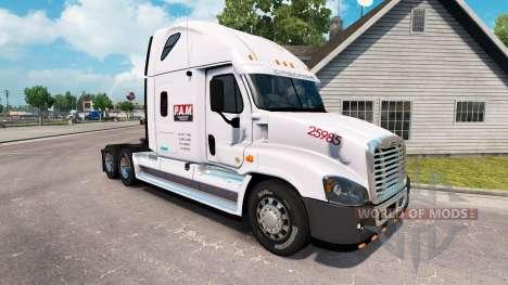 Скин P.A.M.Transport2 на Freightliner Cascadia для American Truck Simulator