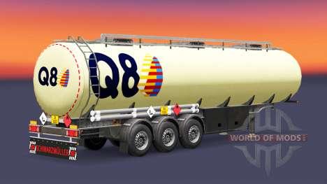 Скин Q8 на топливный полуприцеп для Euro Truck Simulator 2