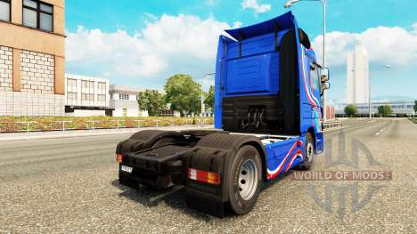Скин Blue Edition на тягач Mercedes-Benz для Euro Truck Simulator 2