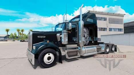 Скин Redskin v1.2 на тягач Kenworth W900 для American Truck Simulator