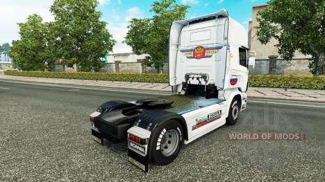 Скин Russia White на тягач Scania для Euro Truck Simulator 2