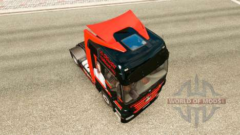 Скин Spencer Hill на тягач Mercedes-Benz для Euro Truck Simulator 2