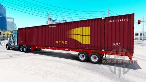 Полуприцеп контейнеровоз STAX для American Truck Simulator
