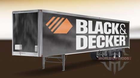 Скин Black & Decker на полуприцеп для American Truck Simulator
