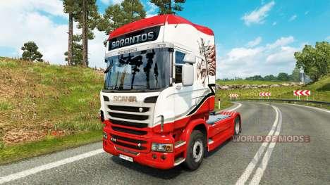 Скин Sarantos transport на тягач Scania для Euro Truck Simulator 2