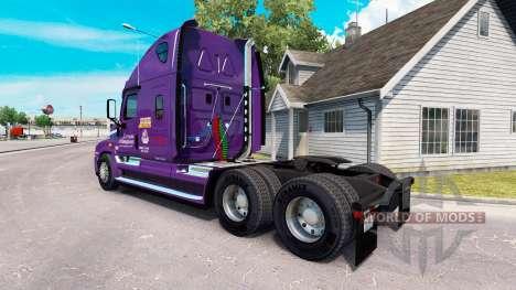 Скин Covenant Transport на Freightliner Cascadia для American Truck Simulator