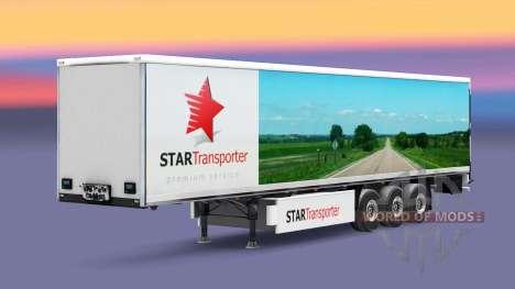 Скин Star Transport на полуприцепы для Euro Truck Simulator 2