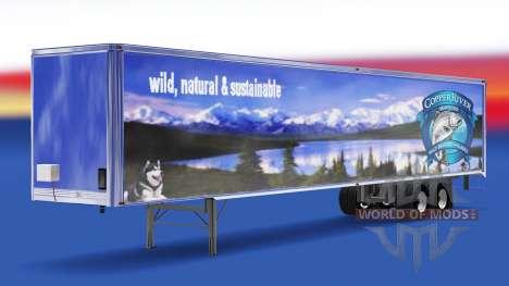 Скин Copper River Seafoods на полуприцеп для American Truck Simulator
