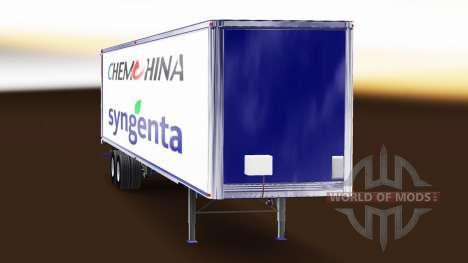 Скин ChemChina & Syngenta на полуприцеп для American Truck Simulator