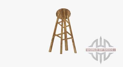 Барный деревянный табурет для Farming Simulator 2017
