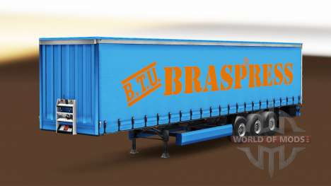 Скин Braspress Transportes на шторный полуприцеп для Euro Truck Simulator 2