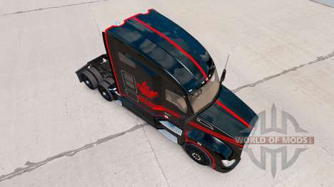 Скин Canadian Express Black на тягач Kenworth для American Truck Simulator