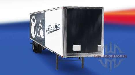 Скин Alaska Huskies на полуприцеп для American Truck Simulator