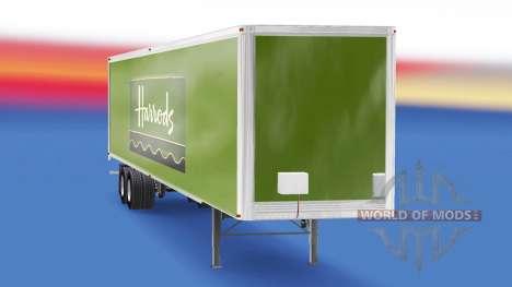 Скин Harrods v2.0 на полуприцеп для American Truck Simulator